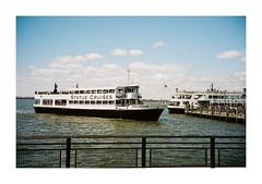 FILM - Statue Cruises (fishyfish_arcade) Tags: 35mm analogphotography canonsureshotz135 filmphotography filmisnotdead istillshootfilm kodak newyork portra400 analogcamera compact film libertyisland cruise boat