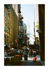 FILM - East 50th St (fishyfish_arcade) Tags: 35mm analogphotography canonsureshotz135 filmphotography filmisnotdead istillshootfilm kodak newyork portra400 analogcamera compact film streetphotography chryslerbuilding