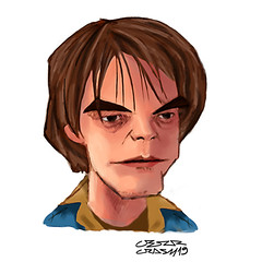 Jonathan Byers (Cesar Crash) Tags: strangerthings stranger things charlieheaton charicature desenho drawing caricatura painting pintura photoshop