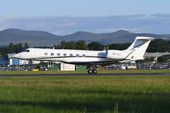 N175NH Gulfstream 550 EGPH 14-07-19 (MarkP51) Tags: n175nh gulfstream 550 bizjet corporatejet edinburgh airport edi egph scotland aircraft airplane plane image markp51 nikon d500 nikonafp70300fx sunshine sunny