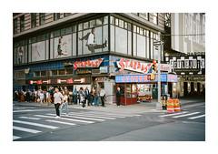 FILM - Ellen's (fishyfish_arcade) Tags: 35mm analogphotography canonsureshotz135 filmphotography filmisnotdead istillshootfilm kodak newyork portra400 analogcamera compact film streetphotography ellensstardustdiner diner