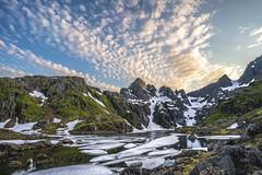 Polar Sunset (StarCitizen) Tags: norway lofoten mountain lake cirrus clouds sunset ice snow water