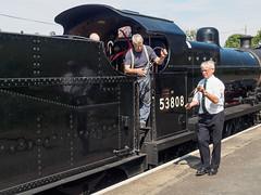 West Somerset Railway at Blue Anchor-F7090161 (tony.rummery) Tags: 53808 7f crew em5mkii heritage locomotive mft men microfourthirds omd olympus somerset steam westsomersetrailway workers working minehead england unitedkingdom