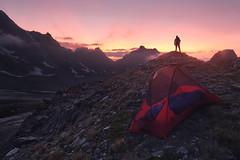Hiking spirit (lionel.fellay) Tags: hiking tent mountains fujifilm sunset adventure switzerland xt3