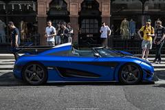Profile (Hunter J. G. Frim Photography) Tags: supercar hypercar london uk koenigsegg one1 blue matte wing carbon turbo swedish koenigseggone1