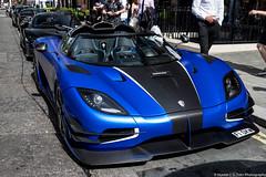 Matte Blue (Hunter J. G. Frim Photography) Tags: supercar hypercar london uk koenigsegg one1 blue matte wing carbon turbo swedish koenigseggone1