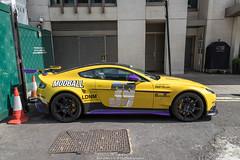 GT8 (Hunter J. G. Frim Photography) Tags: supercar hypercar london uk aston martin v8 vantage gt8 yellow wing carbon british coupe astonmartingt8 astonmartinv8vantagegt8