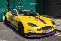 Loud (Hunter J. G. Frim Photography) Tags: supercar hypercar london uk aston martin v8 vantage gt8 yellow wing carbon british coupe astonmartingt8 astonmartinv8vantagegt8