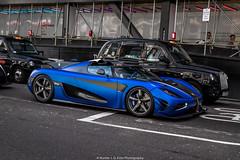 Beast (Hunter J. G. Frim Photography) Tags: supercar hypercar london uk koenigsegg one1 blue matte wing carbon turbo swedish koenigseggone1