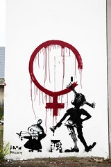 Urban- & Mural Art Spandau, Secret Spot Zwo (bsdphoto) Tags: streetart berlin kunst art urbanart muralart mural urbanarthall secretspotzwo spandau altepost postpackstation ausenaufnahme ausenansicht iron feminismus deutschland