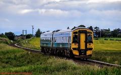 158720 @ Gollanfield (A J transport) Tags: class158 diesel dmu 158720 scotland scotrail saltirelivery evening nikkon d5300 dlsr express railway trains unit