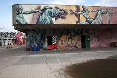 Urban- & Mural Art Spandau, Secret Spot Zwo (bsdphoto) Tags: streetart berlin kunst art urbanart muralart mural urbanarthall secretspotzwo spandau altepost postpackstation ausenaufnahme ausenansicht sokaruno deutschland