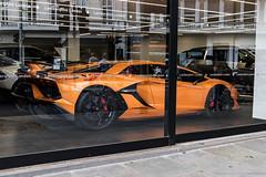 SVJ (Hunter J. G. Frim Photography) Tags: supercar hypercar london uk lamborghini aventador svj lp7704 orange white v12 awd coupe carbon italian lamborghiniaventador lamborghiniaventadorsvj