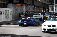 Standout (Hunter J. G. Frim Photography) Tags: supercar hypercar london uk koenigsegg one1 blue matte wing carbon turbo swedish koenigseggone1