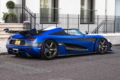 Amazing (Hunter J. G. Frim Photography) Tags: supercar hypercar london uk koenigsegg one1 blue matte wing carbon turbo swedish koenigseggone1