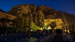 Limone-152 (NiBe60) Tags: italien gardasee lombardei prescia berg alpen limone sul garda gardesana occidentale hotel pool abend nacht italy lake lombardy mountain alps occidental evening night