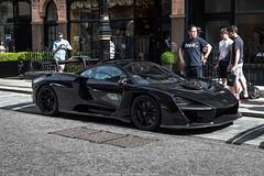 Street Parked (Hunter J. G. Frim Photography) Tags: supercar hypercar london uk mclaren senna british v8 turbo wing black amethyst mclarensenna twinturbo carbon
