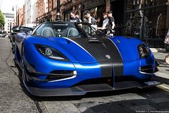 Stanced (Hunter J. G. Frim Photography) Tags: supercar hypercar london uk koenigsegg one1 blue matte wing carbon turbo swedish koenigseggone1