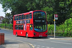 Arriva London bus DW442 is seen on new route 301 in New Road Abbey Wood on 15-7-19. Copyright Ian Cuthbertson (I C railway photo's) Tags: arriva arrivalondon dw442 bus abbeywood route301