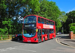 Arriva London bus DW485 is seen on new route 301 in New Road Abbey Wood on 15-7-19. Copyright Ian Cuthbertson (I C railway photo's) Tags: arriva arrivalondon bus route301 abbeywood dw485