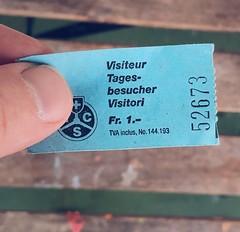 195/365 The price of admission (Árni Svanur Daníelsson) Tags: beach traveling travel lake swimming switzerland luzern ticket lucerne 365the2019edition