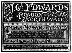 J. C. Edwards, Ruabon. 1906 (growlerthecat) Tags: