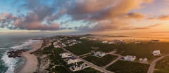 A beautiful sunrise in Yzerfontein, a small town on the West Coast of South Africa (Christine's Phillips (Christine's observations) - ) Tags: panorama southafrica yzerfontein sunrise sunset epic dramatic nopeopleatlantic clouds horizontal christine phillips christinephillipsphotos