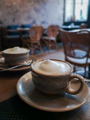 Cappuccino zum Frühstück (travelmemo.com) Tags: boutiquehotel cappuccino relaiscastellodimorcote tessin httpsreisememocheuropaschweizrelaiscastellomorcotebout vicomorcote ticino switzerland