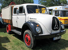 Doka Merkur (Schwanzus_Longus) Tags: oyten german germany old classic vintage vehicle truck lorry doka crew quad cab flatbed platform magirus deutz mercur