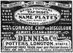 Dennis & Co., Longton 1906 (growlerthecat) Tags: