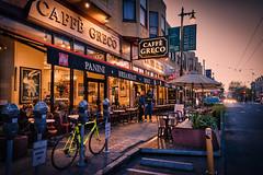 Cafe Greco (Jim Nix / Nomadic Pursuits) Tags: california jimnix lightroom luminar nomadicpursuits northbeach sfo sanfrancisco skylum sony sony28mmf2 sonya7ii westcoast cafe cityscapes landmark primelens travel