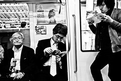 Going full Analog..... (Victor Borst) Tags: street streetphotography streetlife reallife real realpeople asian asia asians fa faces face candid asakusa fashion fashionable travel travelling trip urban urbanroots urbanjungle blackandwhite bw mono monotone monochrome analog metro subway tokyo japan japanese fuji fujifilm xpro2 expression expressions