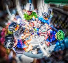 Circle of Racers @ Tour de White Rock, BC (gks18) Tags: iphoneapp circular people bikeracers sports canon lightroom nik