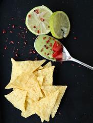 Nachos & Guacamole (regina.palomba) Tags: mexicosour mexico nachos avocado pinkpepper peperosa lime guacamole