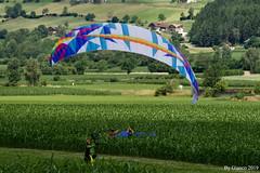 L' atterraggio (gianco1952) Tags: deltaplano exploreoct estate colore volare paracadute falzes valpusteria nikond500
