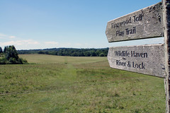 (and the moon rose) Tags: sheffieldpark eastsussex sussex uk england nationaltrust parkland sign footpath