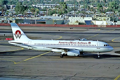 N631AW   Airbus A320-231 [0077] (America West Airlines) Phoenix-Sky Harbor Int'l~N 01/11/1991 (raybarber2) Tags: 0077 airliner alpechacollection cn0077 filed flickr kphx n631aw negative planebase usacivil