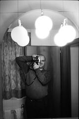 Mirror (vladixp) Tags: fp4 fp4plus fp480 d76 14min 20c 12 praktica mtl5 flektogon k2 pf7250u 3600dpi 35mm yellowfilter filmscan 35mmfilm film bw bwfilm filmphotography negative scanned svizzera schweiz switzerland suisse brig valais