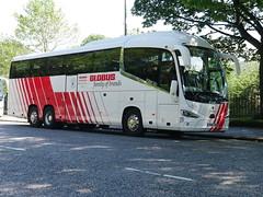 City Circle of Newbridge Scania K410EB6 Irizar i6s YN18SVR 97, in Globus Tours livery, at Regent Road, Edinburgh, on 10 June 2019. (Robin Dickson 1) Tags: citycircle globustours busesedinburgh scaniak410eb6 irizari6s yn18svr