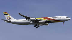 OO-ABD_JFK_Landing_22L (MAB757200) Tags: airbelgium a340313 ooabd aircraft airplane airlines airbus airport jetliner jfk kjfk landing runway22l