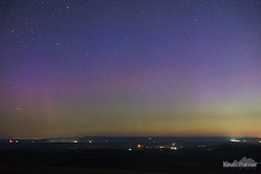 Purple Dawn (kevin-palmer) Tags: summer sky night stars space july astrophotography aurora astronomy starry northernlights auroraborealis geomagneticstorm green dark lights colorful purple clear wyoming sheridan bighornmountains redgraderoad nikond750 nikon50mmf14afd