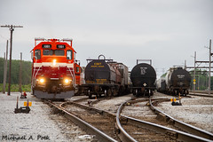 NICD 1001 @ Burnham, IL (Michael Polk) Tags: chicago south shore bend railroad emd gp383 nicd nictd 1001 freight train rail burnham yard