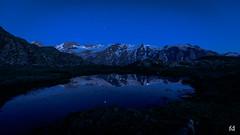 Heure bleue sur le plateau d'Emparis (flo73400) Tags: night blue heurebleue nuit montagne mountain paysage landscape sky star etoile
