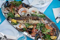 croatian food_sea food plate (seppi_hofer) Tags: croatia kroatien food essen table tisch dishes speisen summer sommer seafood meeresfrüchte maindish hauptspeise