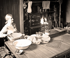 IMG_2459BW (bob_rmg) Tags: pitman pit coal miner cottage kitchen beamish durham 1950s museum