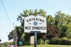 West Springfield, MA (Stephen St-Denis) Tags: west springfield massachusetts hampden county townline sign enteringmass