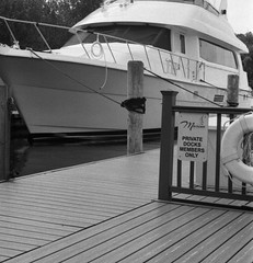 Frankfort Michigan is for Members Only (ejbarth) Tags: leicaiiif film ultrafine pushprocessing d76 selfdeveloped bw nb sw frankfort michigan summer summitar