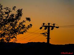 Kayakoy Sunset (red.richard) Tags: kayakoy turkey sunset electric pole wires yellow silhouette tree nikon d800