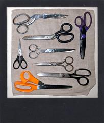 Eight is enough (LeftCoastKenny) Tags: utata ironphotographer towel scissors flash fakepolaroid utata:project=ip286 utata:description=hide knolling