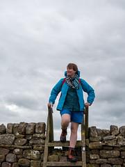 The Explorer (Markus Jansson) Tags: hadrianswall england uk walking hiking nature åsa wall portrait climbing stile